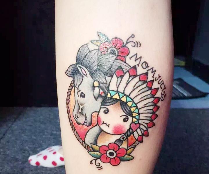 有几处纹身…也不会很花…都是有纪念意义的,上两张图,一个是我宝宝的