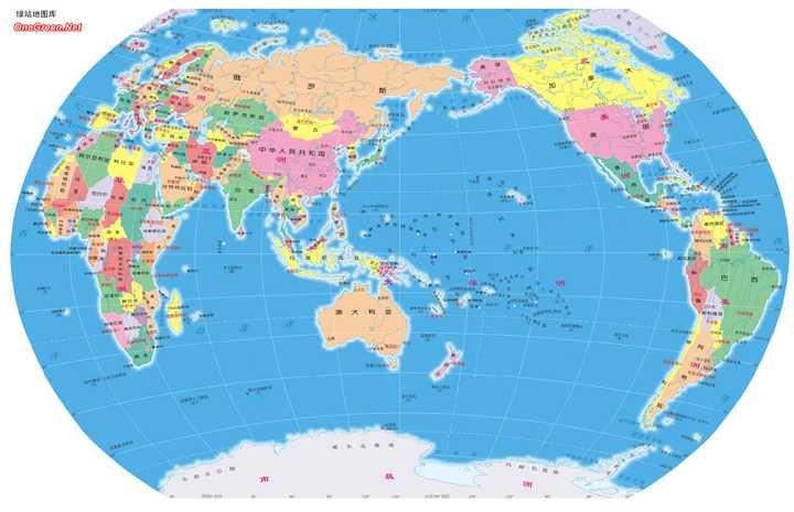中国与外国看的世界地图是不是不同?