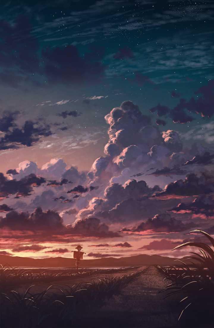 有没有这种画出来的风景的壁纸?
