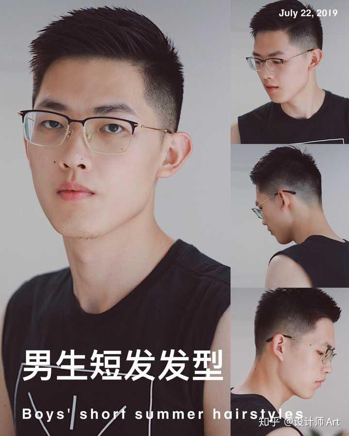 一:侧向纹理短发 头顶在4-6厘米的长度,头发自然吹干,头顶和刘海用图片
