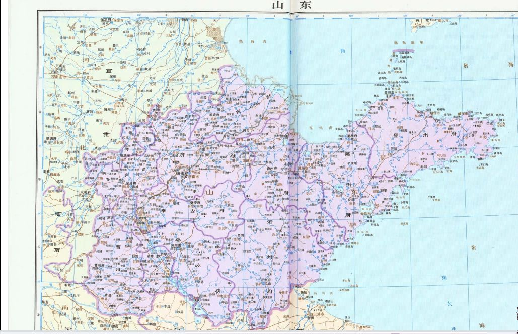 明代山东地图_