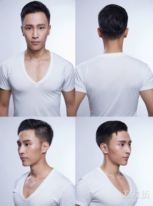 男士油头发型图片