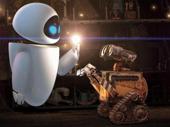 ▋《机器人瓦力》除了讲述了在废土天堂里一堆机器人的爱情故事,片中