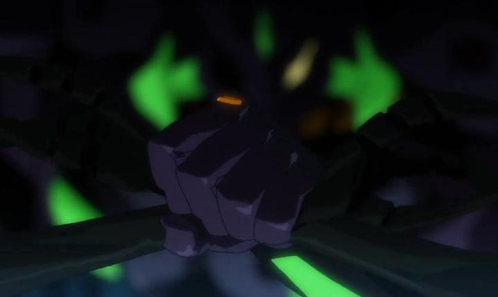 在《eva》中 ,为什么初号机能在最后碾轧力天使?