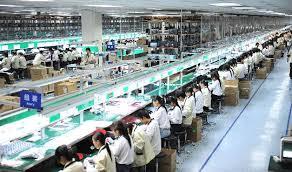 电子工厂美女图片
