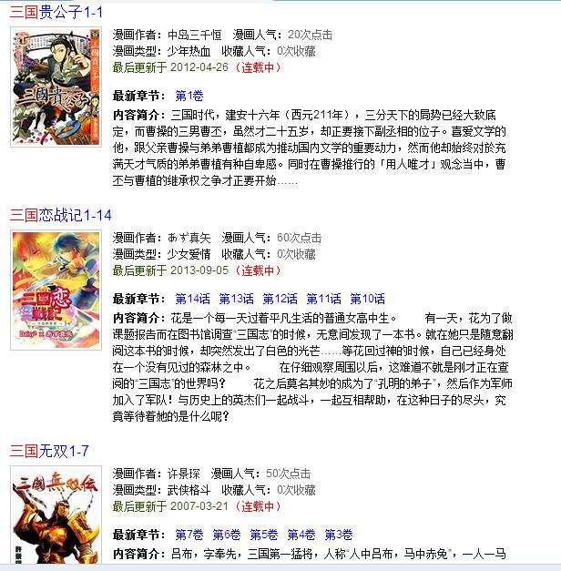 题材三国有哪些版本漫画?-日本漫画-知乎教授漫画美女图片