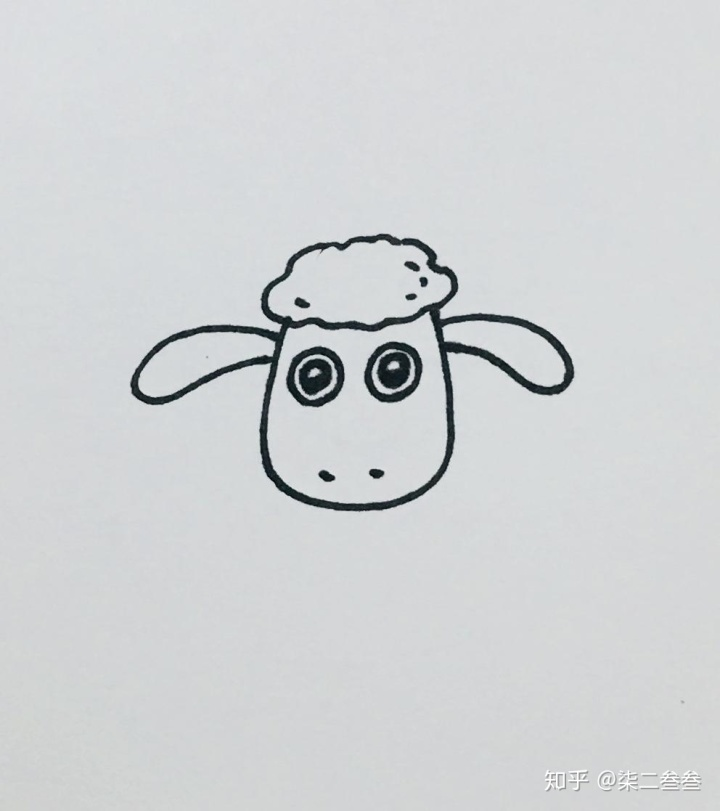 每天一张简笔画 | 小羊肖恩(内含详细步骤)