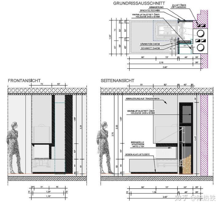 炉子是固定规格的,灰色灶台和立面是按照室内设计要求人工做的,最图片
