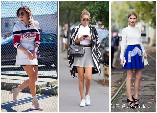 X腿型的女生穿A字裙不很难看?物工程联网女生专业图片