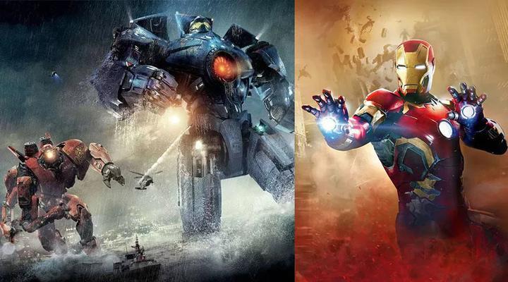 (《钢铁侠》类似外骨骼的机器人和《环太平洋》中的巨型机器人可视为