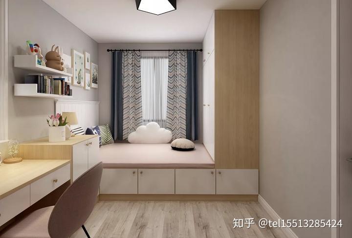 【山西今朝装饰公司】96平米北欧风两居室装修,小清新