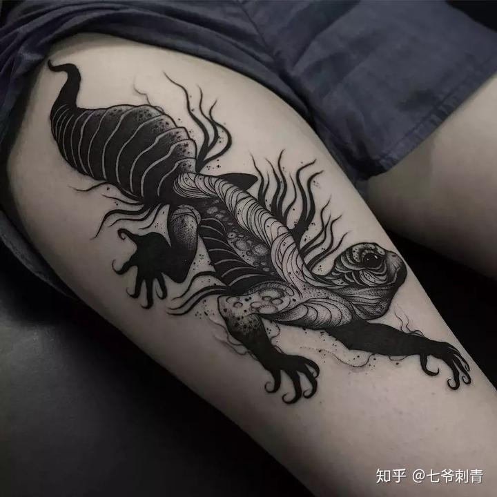 南昌纹身,纹身图片,暗黑纹身作品与手稿