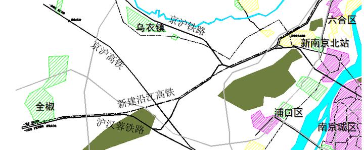 既然全椒和滁州要跟着江北新区走,那沪汉蓉和京沪高铁是不好用