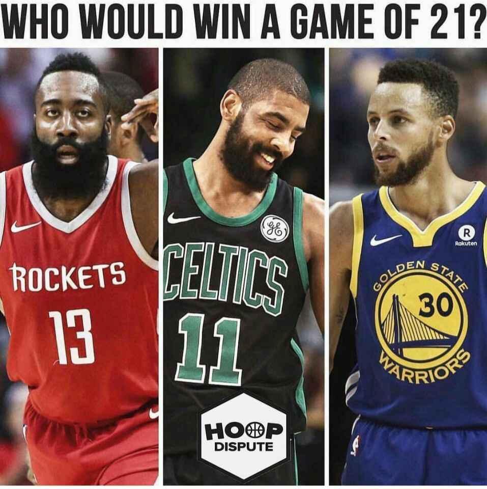 哈登,库里,欧文单挑21球,谁会胜出?