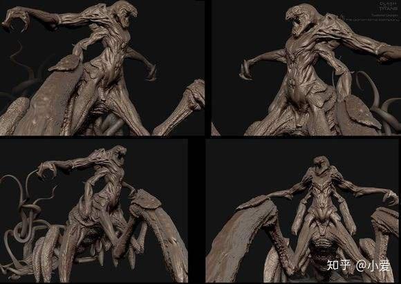 国外网友做的3d克拉肯(kraken)模型
