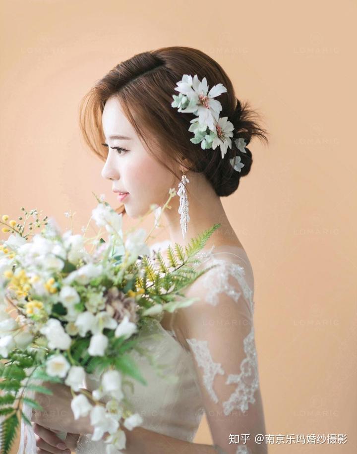 2018最流行的新娘韩式发型图片