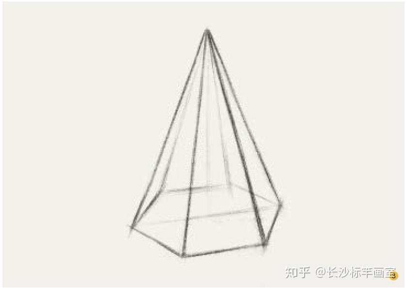 【自学素描零基础入门必看】六棱锥的结构素描作画步骤