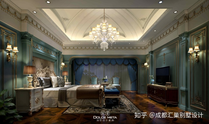 高贵典雅的法式床头升华 了空间的高贵气息.图片