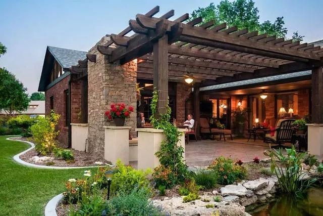 别墅庭院如何设计?感受大自然图片