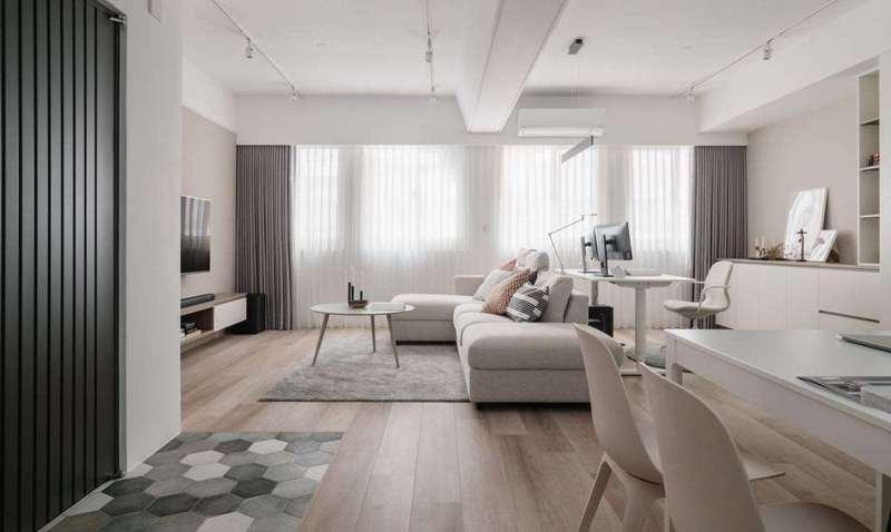 76㎡北欧风房屋装修,合理色系搭配,气质装修设计实景图