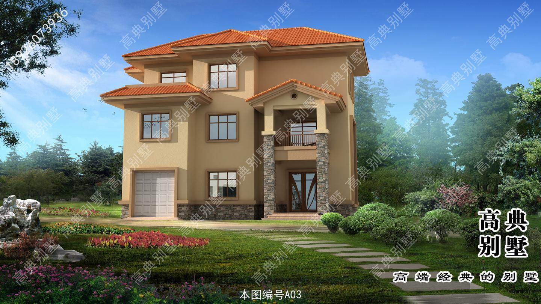 三层农村房屋设计效果图,60万实现你的乡村别墅梦