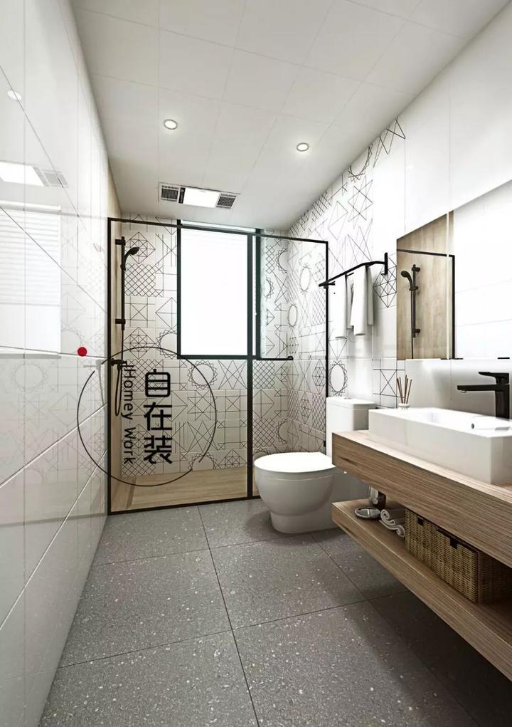最后来说说卫生间,如何拥有一个ins风的卫生间?图片