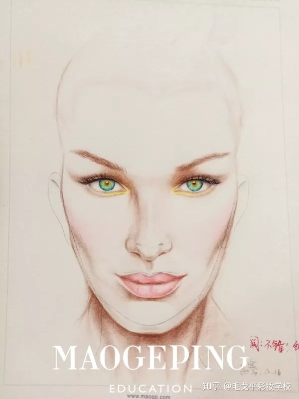 成都毛戈平形象设计|903化妆造型全科班三个手绘制图如何画直图片