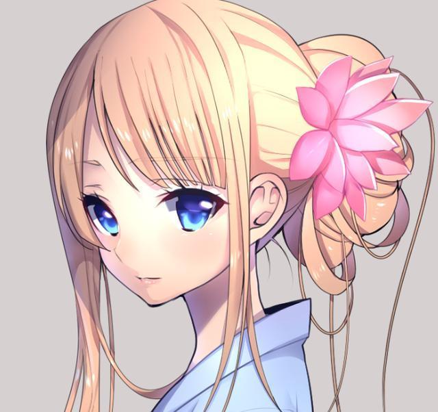 粉色长发,笑容甜美的二次元小姐姐,好喜欢她啊!