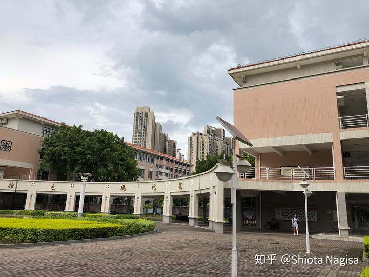 珠海市第一右侧,胜券在握广场,左侧新语中心,中学实验楼读本文高中信息2卷图片