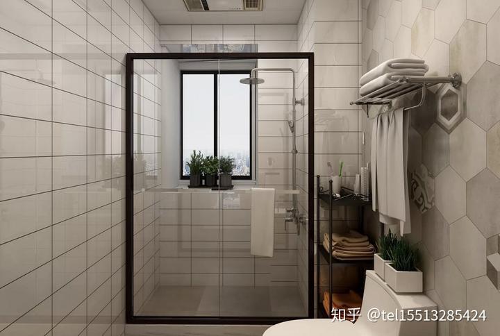 【山西今朝装饰公司】96平米北欧风两居室卫生间装修效果图