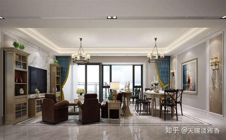 房屋装修美式风格装修设计案例,这样的美式风格你心动