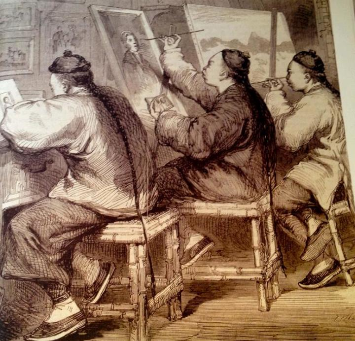 Chinese Artists(The  Illustrated London News,30 April 1859)
