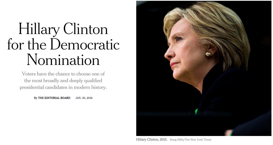 为什么美国媒体会公开支持某一位总统候选人?