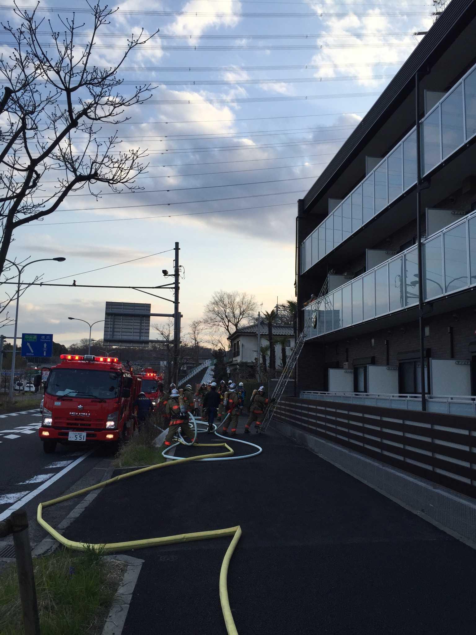 在日本租房发生火灾房间部分被烧毁,消防局判