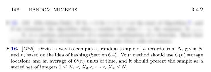 从1~N的整数中随机选M个- 知乎
