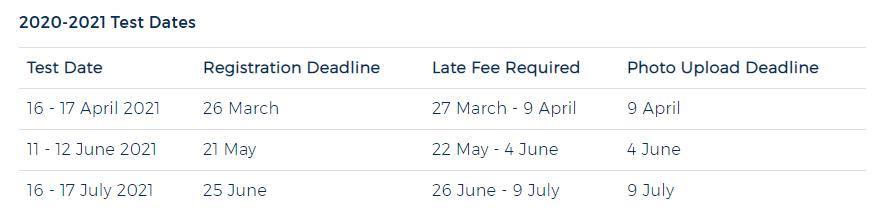 更新!2021年下半年ACT考试时间!