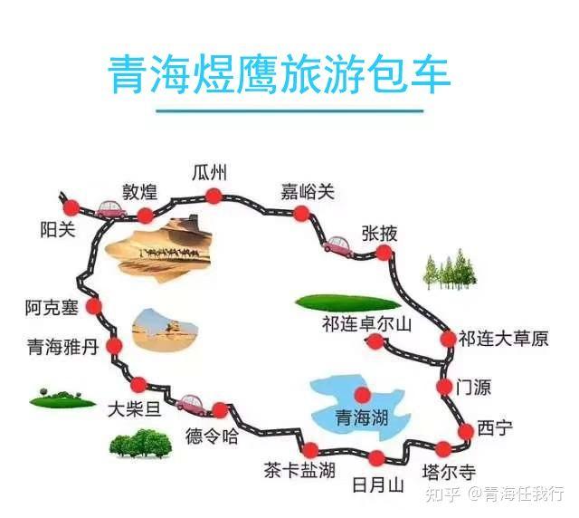 青海大环线路线图