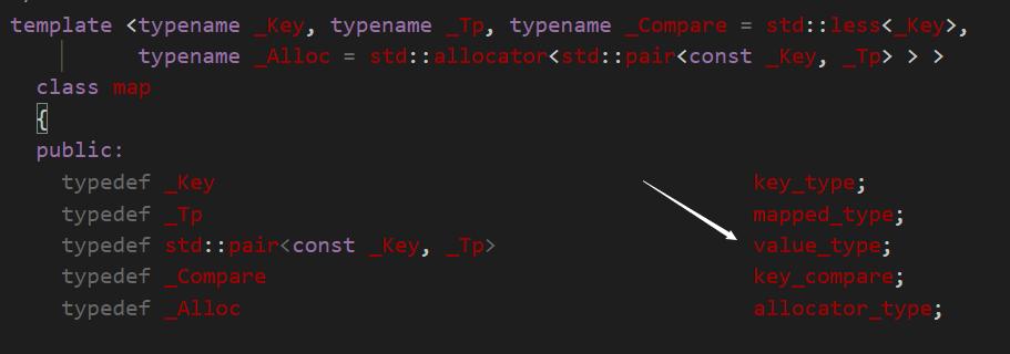 value_type
