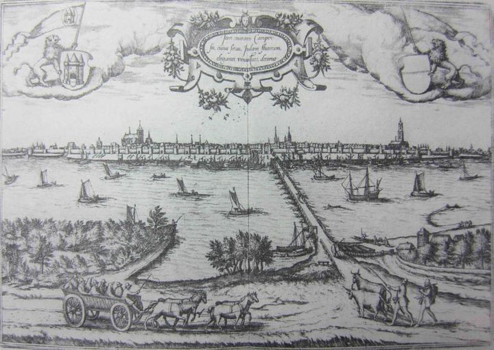 张宏 《越中十景》17世纪,吴彬《岁华纪胜图 大儺》17世纪,《全球图解》(Civitates Orbis Terrarum 1572年)