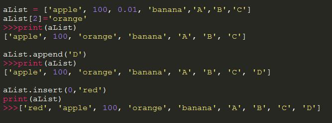 python数据结构之列表、元组和字典用法