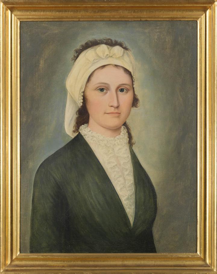Portrait of Martha Goodhue Wheatland , wife of Captain Richard Wheatland, 1799-1800,史沛霖,油画