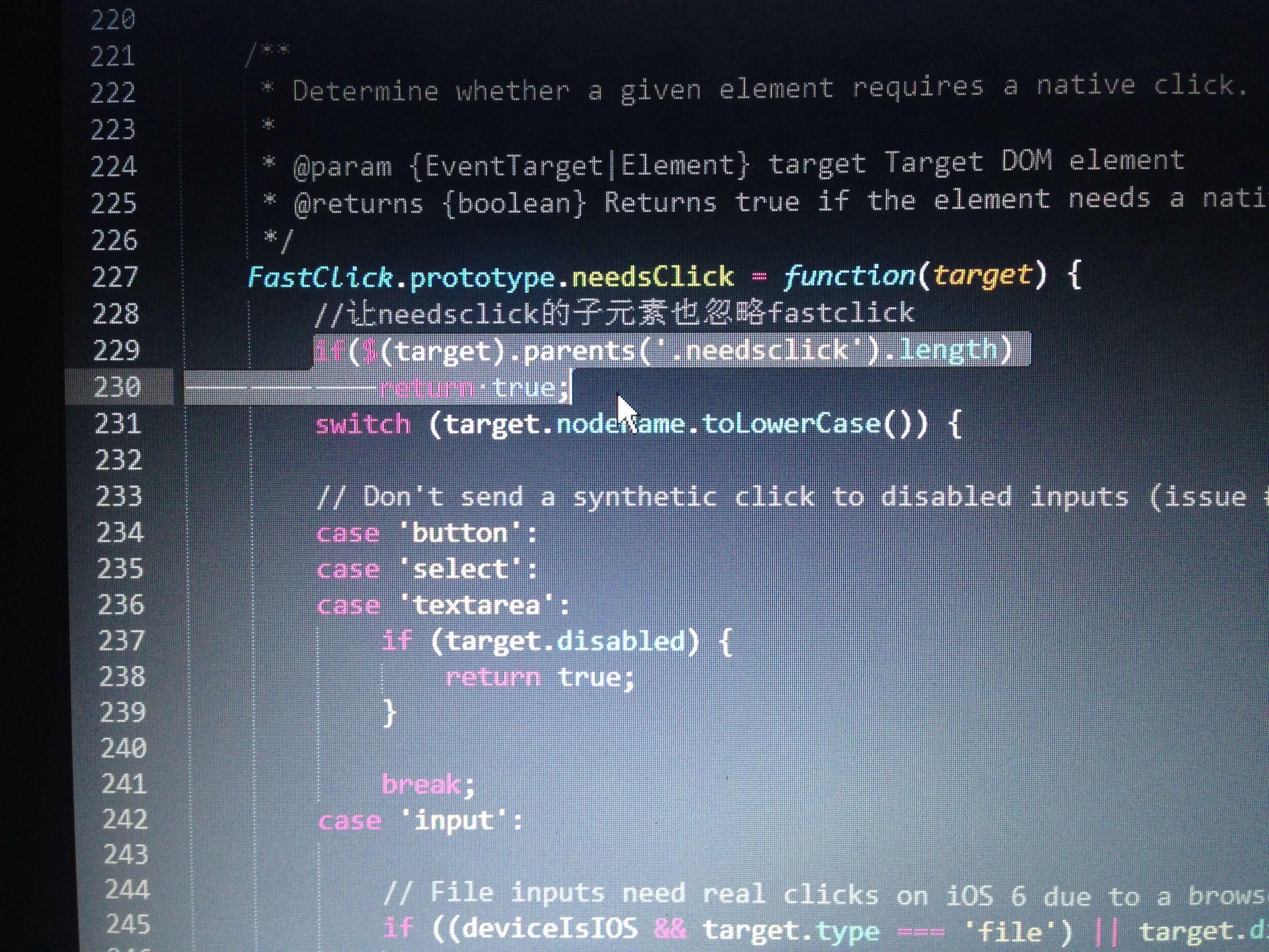 fastclick.js在点击一个可输入的div时,为何无法正