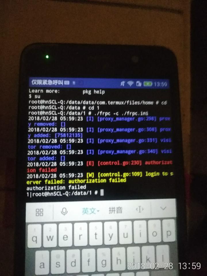 要在安卓手机上运行linux的程序(frp),直接用终端模拟器可以吗,还是要装