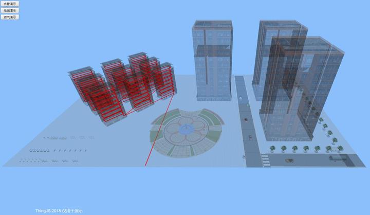 地下管线监控系统中互联网WebGL三维可视化构建技术 ThingJS
