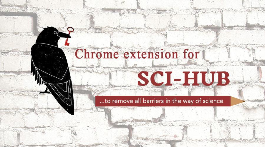 Sci-Hub最新网址和一键全文下载的Chrome扩展