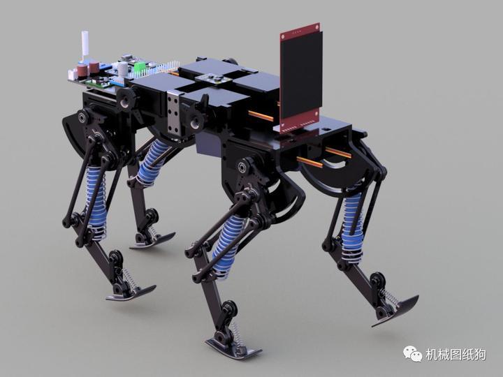 機器人】適合3d打印的四足小動物機器人三維模型圖紙 fusion 360設計
