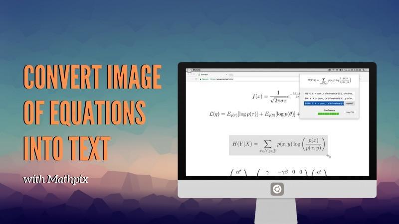 用这个漂亮的工具将方程式截图迅速转换为 LaTeX