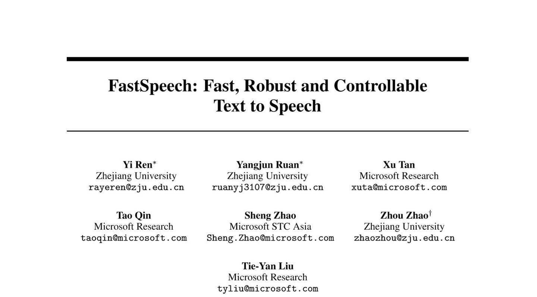 FastSpeech阅读笔记