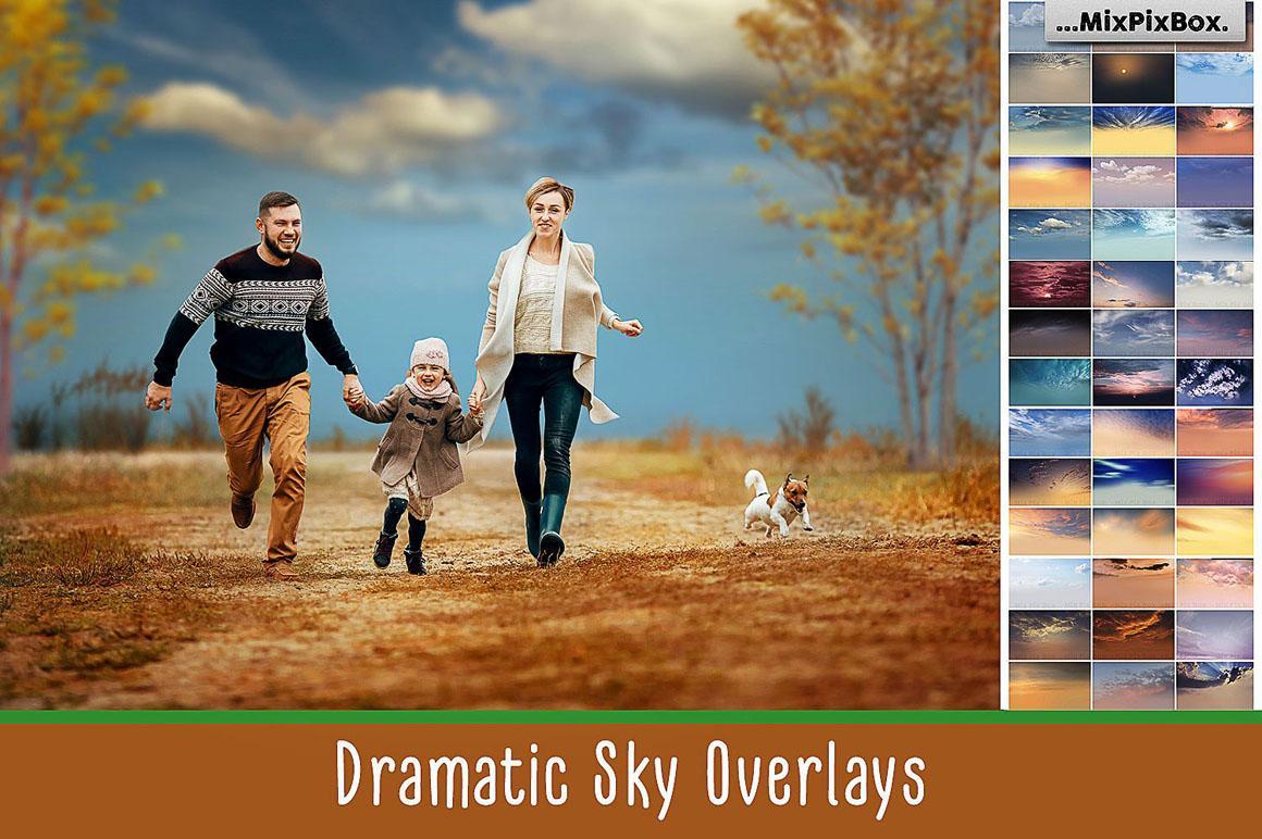 【S304】60张高清表现力丰富的天空云彩叠加合成素材