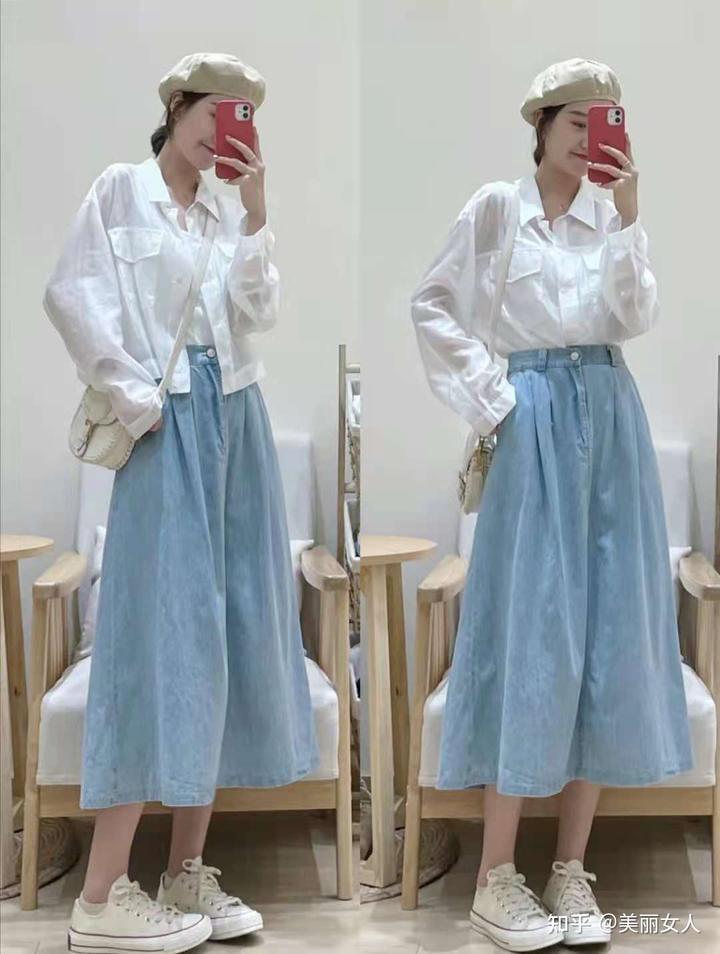 夏天半身裙配什么上衣好看呢?时尚达人的穿搭示范插图5